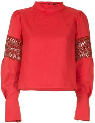 Aula embroidered details blouse