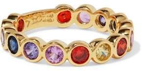 Noir Lazaro 14-Karat Gold-Plated Crystal Ring