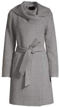 Sentaler Hooded Alpaca Wrap Coat