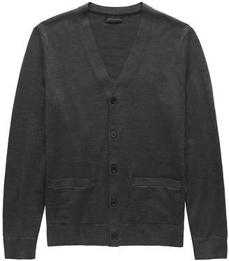 Banana Republic Extra-Fine Italian Merino Wool Cardigan Sweater