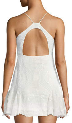 Free People Sparklette Godet Mini Dress