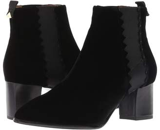 Emporio Armani Velvet Pull-On Ankle Boot Women's Boots