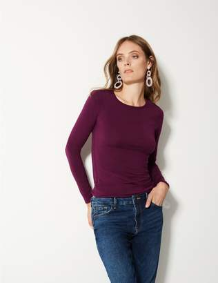 Marks and Spencer Modal Rich Round Neck Long Sleeve T-Shirt