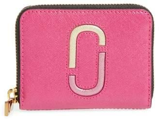Marc Jacobs Snapshot Saffiano Leather Zip Around Wallet