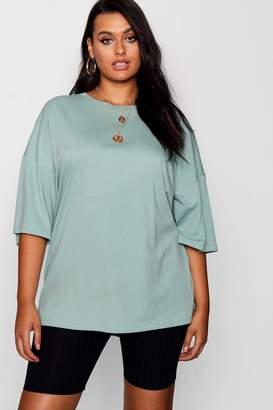 boohoo Plus Pastel Oversized Boyfriend T Shirt