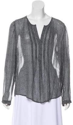 Joie Sheer Silk Long Sleeve Top