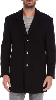 Calvin Klein Black Wool-Blend Overcoat