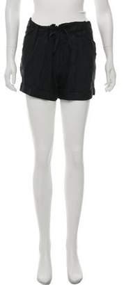 Helmut Lang Silk Mini Shorts