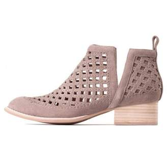 Jeffrey Campbell Taupe Perforated Bootie