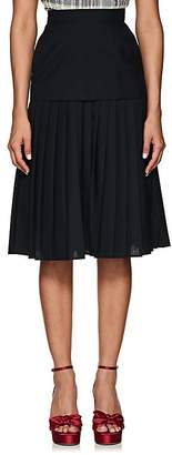 Thom Browne Women's Pleated Worsted Wool Knee-Length Skirt