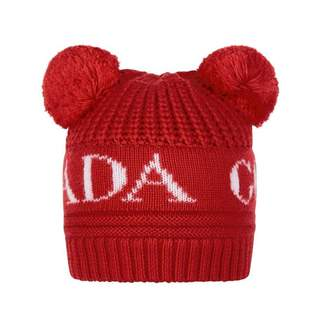 Canada Goose Canada GooseRed Double Pom Baby Hat