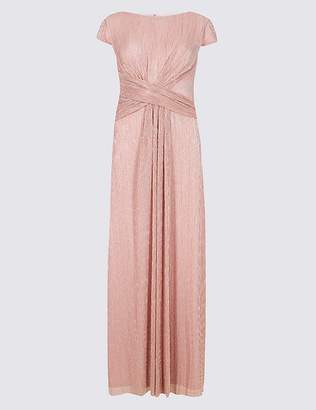 Marks and Spencer Sparkly Twist Detail Metallic Maxi Dress