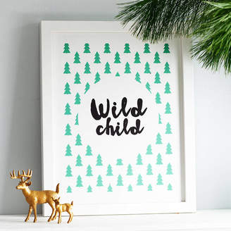 Thispaperbook Personalised 'Wild Child' Print
