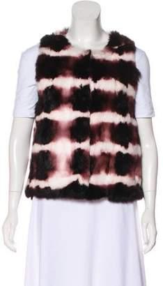 Haute Hippie Striped Fur Vest w/ Tags