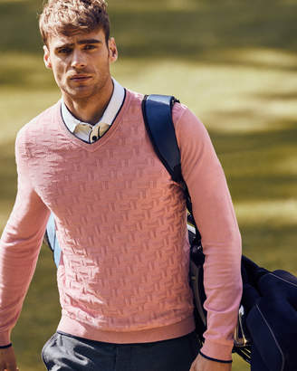 Ted Baker ARMSTRO Textured V-neck sweater