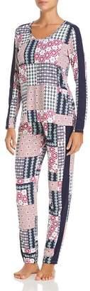 Josie Slumber Party Printed Pajama & Eye Mask Set