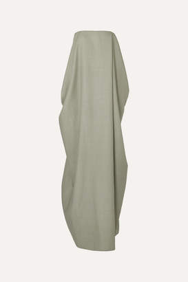 The Row Lu Strapless Wool-blend Gown - Green