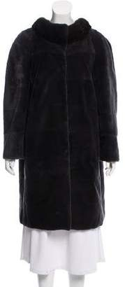 Yves Salomon Fur Knee-Length Coat