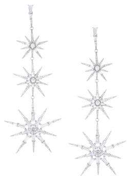 Adriana Orsini Nova Crystal Star Drop Earrings