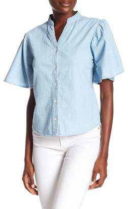 OnTwelfth Chambray Denim Button-Up Top