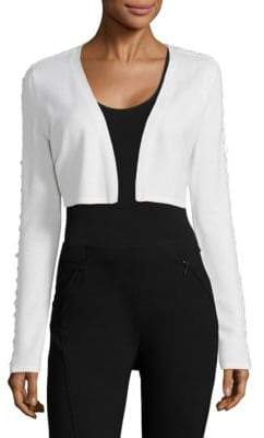 Elie Tahari Cooper Merino Wool Cropped Sweater