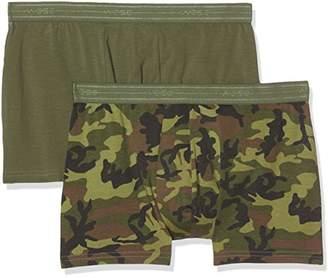 Wesc Men's Stan Camo 2-Pack Boxer Briefs,(Size:S)