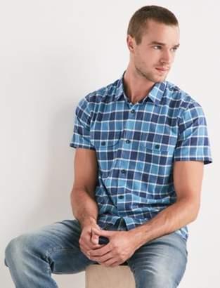 Short Sleeve Plaid Shop Shirt