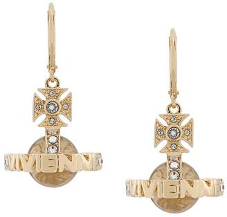 Vivienne Westwood logo ball earrings