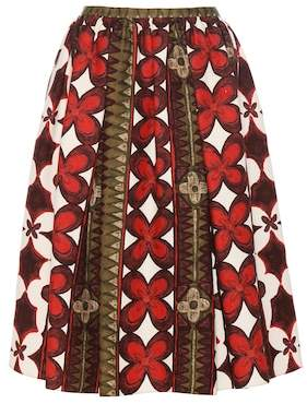 Valentino Wool and silk printed skirt