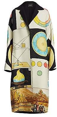 Akris Women's Reversible Elanna Panopaly Wool & Silk Coat