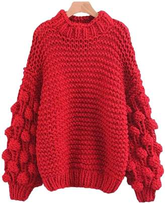 Goodnight Macaroon 'Clora' Pom Pom Sweater (3 Colors)