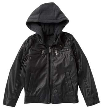 Urban Republic Faux Leather Moto Jacket (Big Boys)