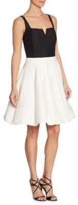 Halston Splitneck Colorblock Dress