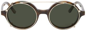 Han Kjobenhavn Tortoiseshell and Gold Clip-On Doc Sunglasses