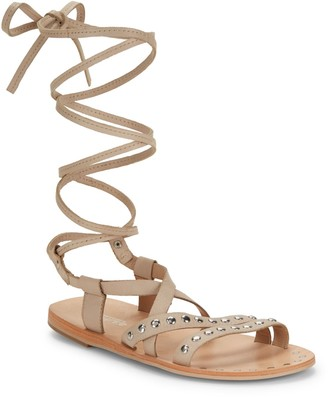 Charles by Charles David Steeler Leather Flat Sandals