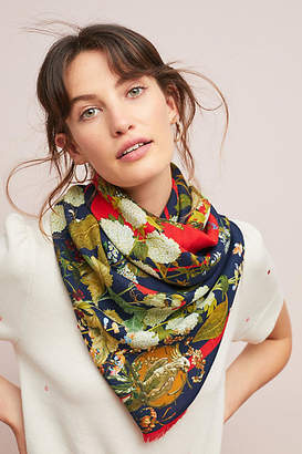 St. Piece Greta Floral Wool Scarf