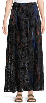 Free People Love So Right Devore Maxi Skirt