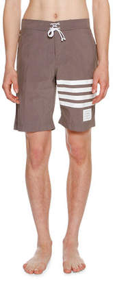 Thom Browne 4-Bar Striped Swim Trunks $490 thestylecure.com