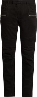 BALMAIN Biker slim-leg jeans $941 thestylecure.com