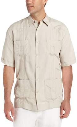 Cubavera Cuba Vera Men's Big-Tall Short Sleeve Embroidered Ramie