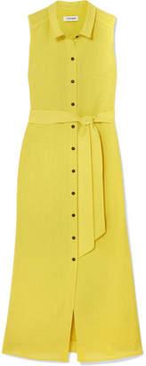 DAY Birger et Mikkelsen Cefinn - Belted Crepe Shirt Dress - Yellow