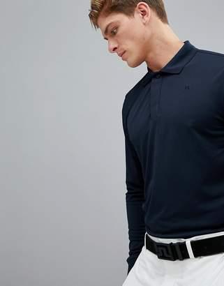 J. Lindeberg Brandon Slim Fit Long Sleeve TX Torque Polo Shirt In Navy