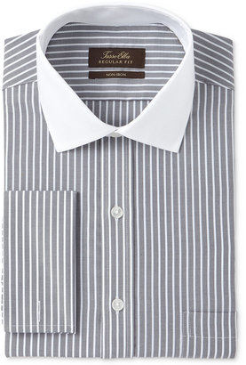 Tasso Elba Men's Classic/Regular Fit Non-Iron French Cuff Dress Shirt with Contrast Collar, Only at Macy's $69.50 thestylecure.com