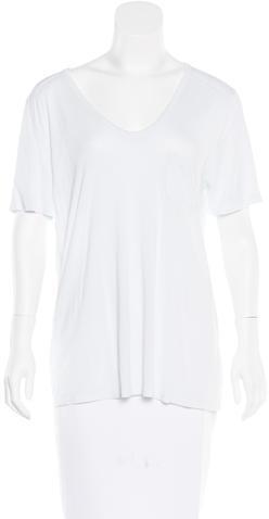 Alexander WangT by Alexander Wang Sheer Short Sleeve T-Shirt