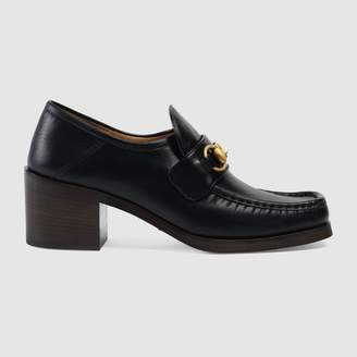 Gucci Leather Horsebit loafers