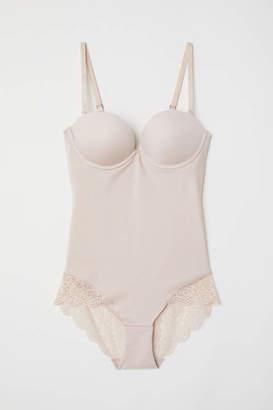 H&M Shaping Super Push-up Bodysuit - Light beige - Women