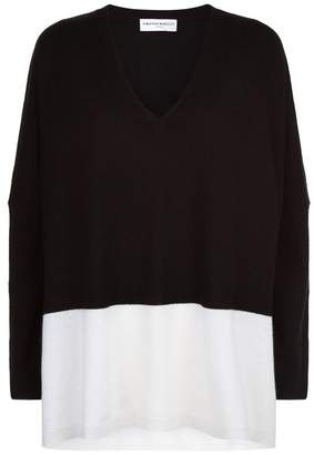 Amanda Wakeley Monochrome Cashmere Sweater
