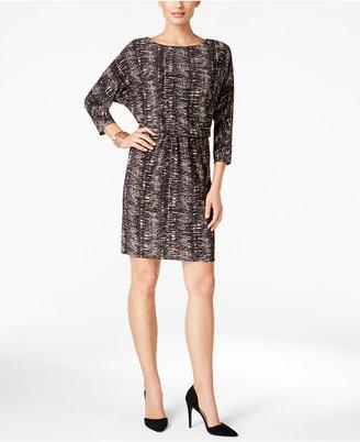 Nine West Printed Blouson Sheath Dress $79 thestylecure.com