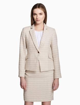 Calvin Klein tweed single button jacket