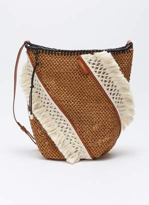 3.1 Phillip Lim 'Marlee' colourblock crochet knit panel woven bag